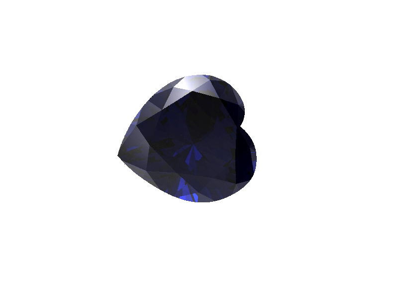 Saphir coeur pierre précieuse