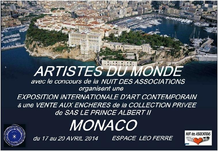 ARTISTES DU MONDE à MONACO
